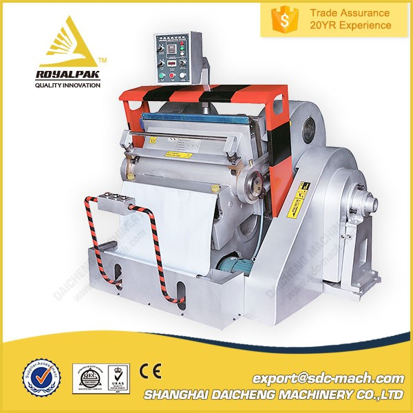 Yes Computerized die cutting machine/hand feed platen die cutters creasing
