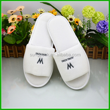 Hot Sale Velvet Hotel Slippers With High Quality White Slippers for SPA Washable Slippers