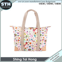 Wholesale Women Handbag Large Capacity Ladies Tote Bag High Quality Polyester Female Shoulder Bag Big Women Bag Made in China