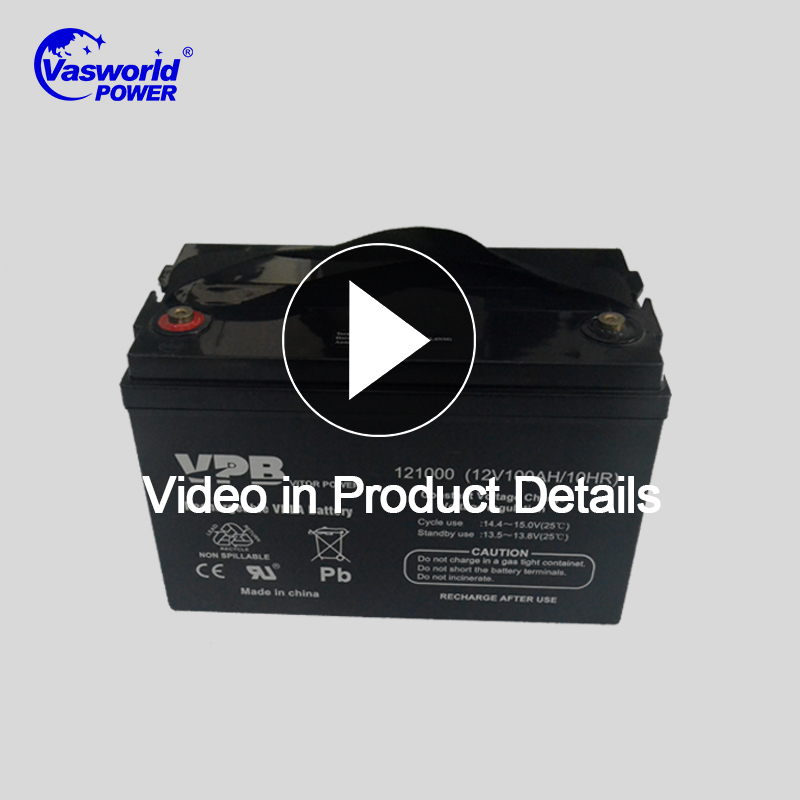 Deep Cycle Rechargeable 12V 100Ah Lead Acid Battery For Solar System