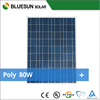 Bluesun 25 years best price power 80w solar panel