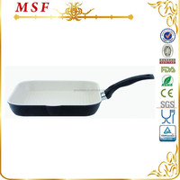 MSF forged aluminum ceramic coating grill pan with bakelite handle MSF-L6212