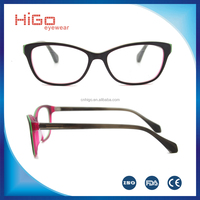 2016 Best quality optical frame full rim acetate frame manufacture in China OEM brand