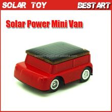 Christmas Gift solar power mini Van, Best promotions gift for kid, DIY educational toy