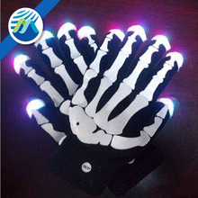 Wholesale LED Flashing Light Skull Skeleton Gloves Halloween
