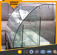 factory price toughened/tempered bent building glass