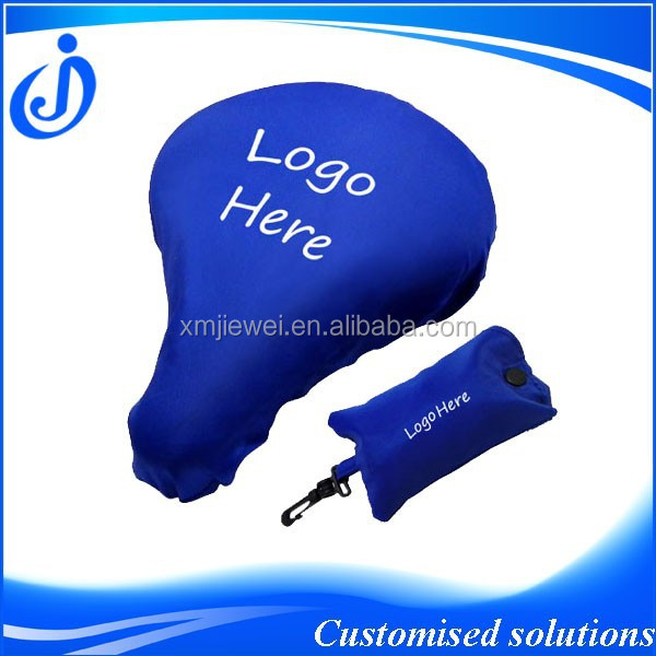 Customised Polyester Bike Seat Cover With Pouch