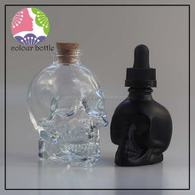 trade assurance 15ml 30ml glass dropper bottle beard oil bottle black glass dropper bottle with screen printing for essential