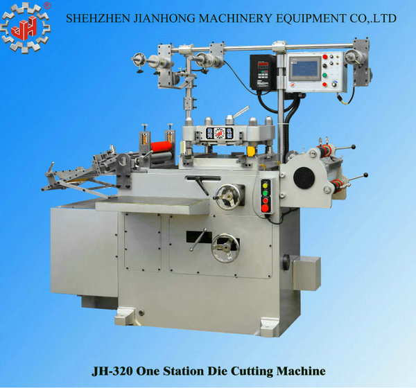 JH-320 hight quality automatic hot stamping adhesive label printing machine die cutting