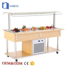 Buffet equipment commercial luxurious marble material salad bar refrigerator