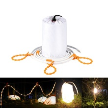 Portable USB LED Strip Light Waterproof 5ft 1.5M 90led 45led Flexible Strip Rope and Lantern for Camping Hiking Emergeny
