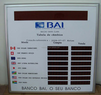 LED bank display board for bank use from factory