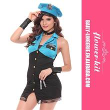 2016 New Fashion Hot Sexy cop dress Sexy Halloween costumes Sexy Police Woman Uniform Cop Dress