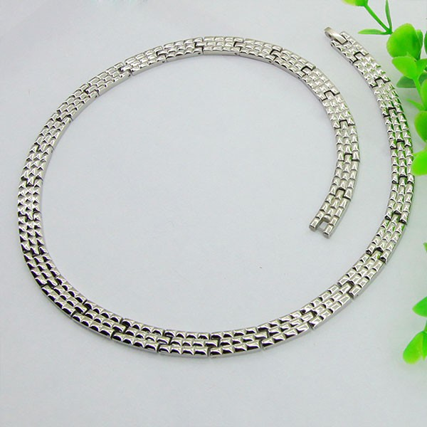 China Supplier Wholesale High Quality Stainless Steel Jewel Necklace