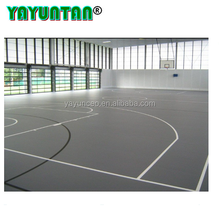 Guangzhou full PU water base floor covering for basketball court/sports floor