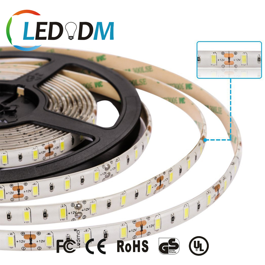 High Brightness LED Strip light SMD5730 DC12/24V 12W/M For Cabinet Lighting, Under-cabinet Lighting Etc