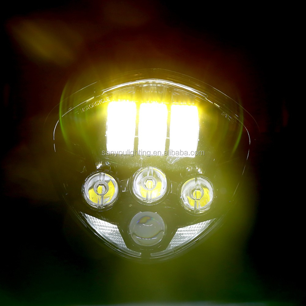 2017 high quality cross country led headlight fit for polaris victory motorcycle led headlamp for motorcycle