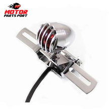 Motorcycle Brake Stop Tail Light plate mount for Harley Chopper Bobber Racer