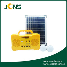 JCN portable homes use solar power system solar kit lithium ion lead acid battery solar generator with USB for phone, load radio
