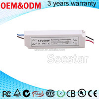 constant voltage plastic housing AC 85V-265V to DC 12V LED Electronic Transformer Smart Power Supply led Driver ip67
