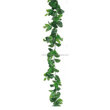 LS16070412 wholesale artificial decorative vines plastic artificial ivy wall hanging plant ornamental garland