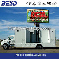 2014 BESD Outdoor P10 LED Display Billboard Trailer, Large LED Screen Video Media Vehicle for Broadcasting & Promotion
