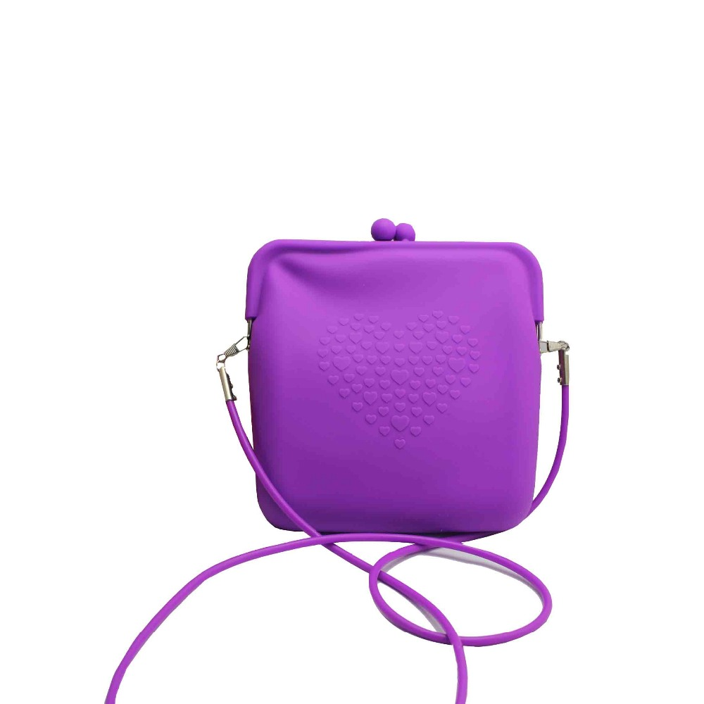 Promotional silicone lady shoulder bag for women silicone bag