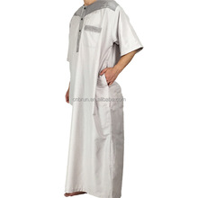 Large Size New Polyester Hot Sale Adult Islamic moroccan Mens Abaya Muslim Clothing Men's Ethnic Arab Robes Robe+Pant