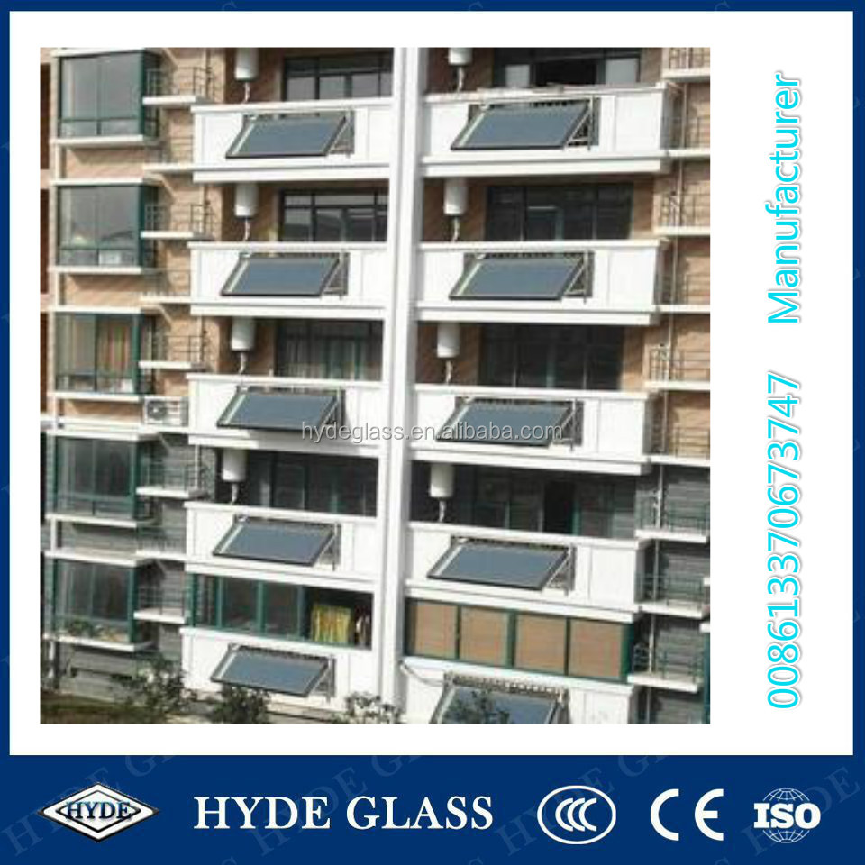 4mm tempered ultra clear balcony solar collector water heater glass
