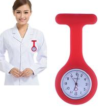 Multi Color Pocket Silicone Watch Clip on Clothes Quartz Nurse Watches