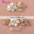 Beach Wedding Shell and Freshwater Pearl Rose Gold Hair Comb and Hair Clip Set