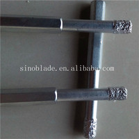 Long Hex Shank Dry vacuum brazed diamond core bits for porcelain ceramic tile