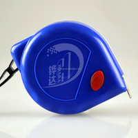 blue white ABS case measure tape,tape measure with red point brake ,steel measuring tape