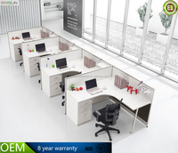 modern office furniture 4 person workstation