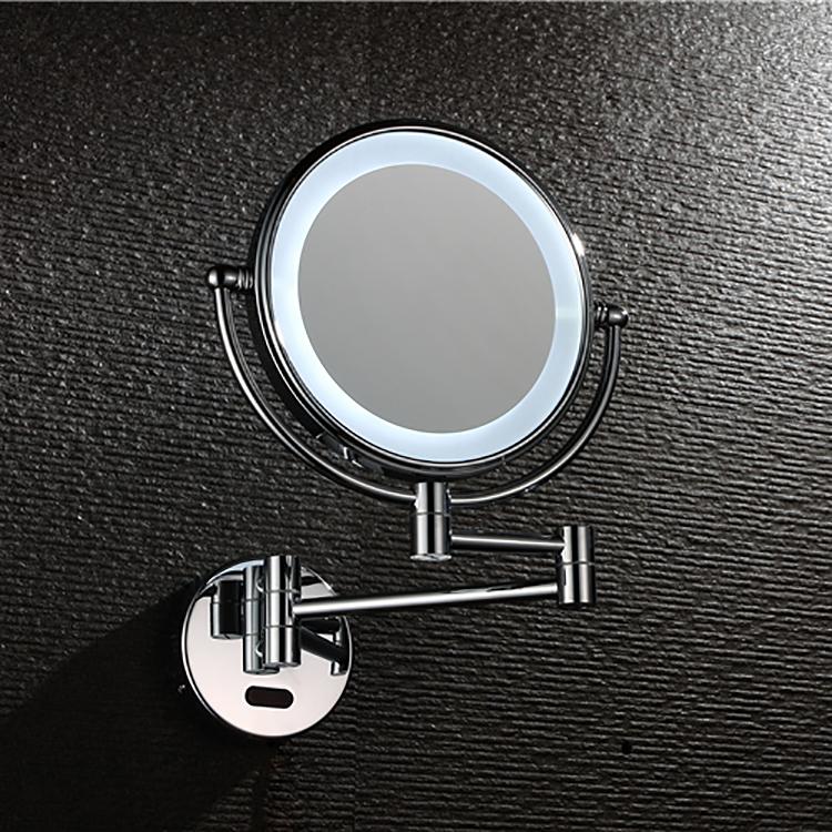 Лучшие продажи ванная комната настенные круглые подсветкой led косметическое макияж смарт-зеркало