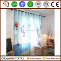 100% polyester travel by fire balloon digital printed curtain for kids