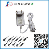 Manufacture 12v 1.5a ac/dc universal mass power adapter