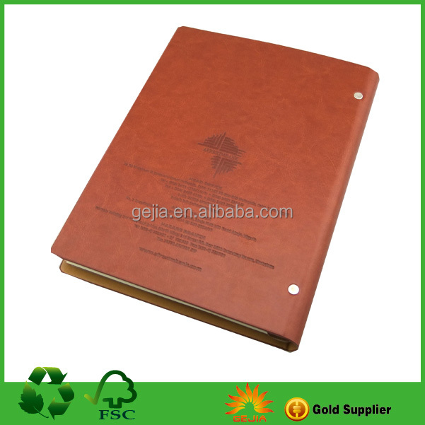 Leather Notebook with 9 hole clip
