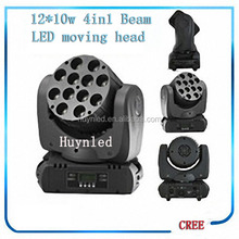 Hot selling and good quality 12pcs 10w moving head light for dj booth
