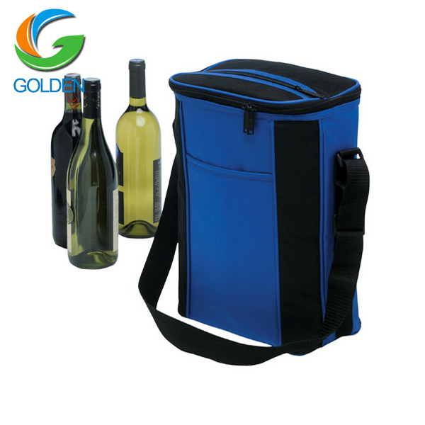 Non-woven wine lunch food delivery insulted bag disposable cooler bag