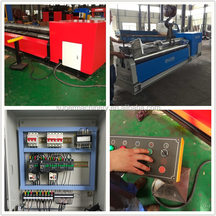 W11-6X3200 Mechanical Three Roller Sheet Plate Rolling Bending Machine