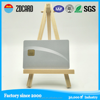 Best quality sle4428 plastic contact business chip smart ic card