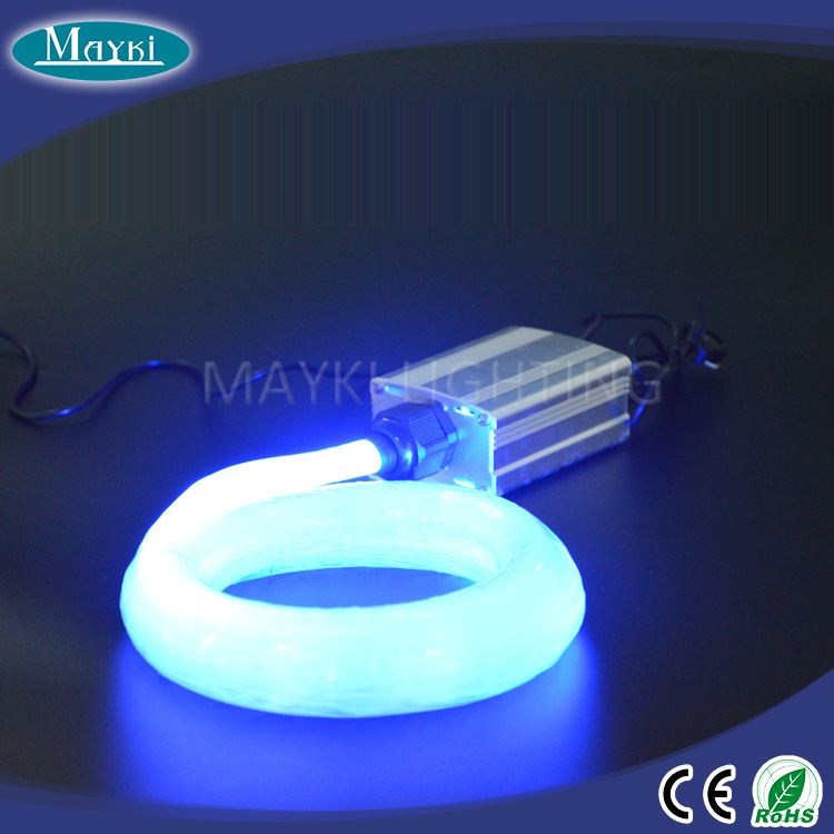 Hot sales fiber optic solar light with thin fiber optic cable and LED light engine
