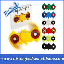 7 Colors Tri-Spinner Fidget Toy ABS/Plastic Bat Shape EDC Fidget Spinner Hand Spinner For Autism and ADHD OCD Anxiety