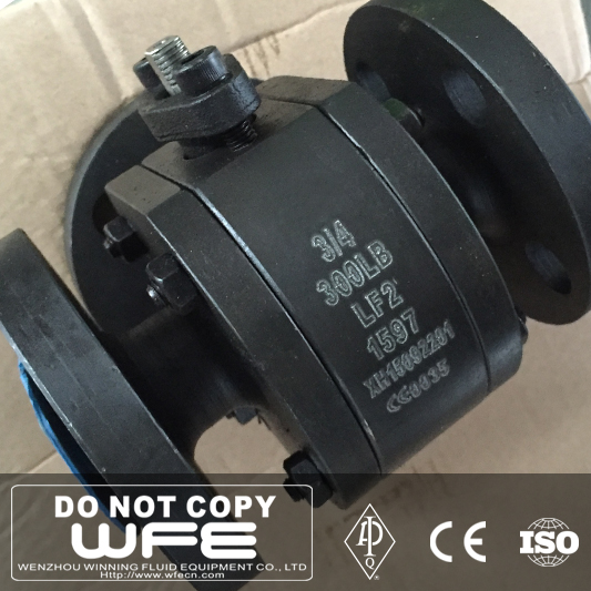 WFE SS316 LF2 A105 Soft Seat Flange Floating 2-pcs Ball Valve