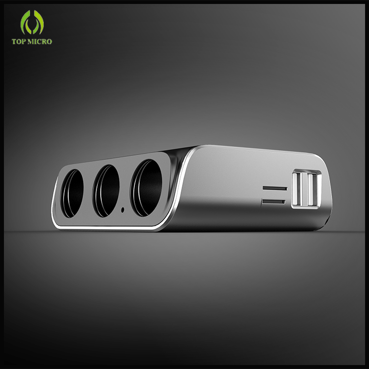 New Multi Functional Dual USB 3 Cigarette Lighter with MP3 Player Car Charger