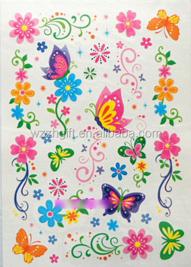 Glitter Body Art Kids Temporary Tattoos Sticker,Kids Tattoo