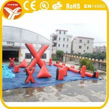 Used commercial cheapest inflatable paintball air bunkers for kids for adults