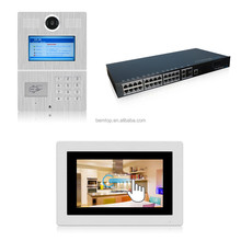 Code/RFID Card/Indoor Monitor Unlock and Mobile APP Remote Access Multi Apartment Video Door Phone Intercom System for Building