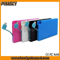 3000mah credit card slim power bank /mobile power pack charger /portable power bank